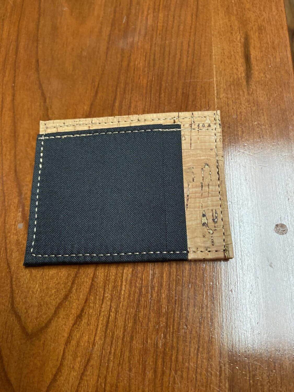 Men's Cork And Blk Front Pocket Wallet