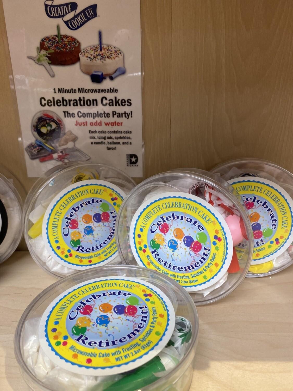 Celebrate 1 Minute Cake. Celebrate Retirement.