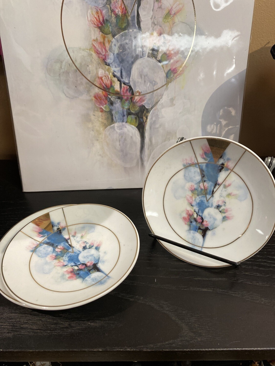 Papaya Porcelain Bloom Trinket Plate