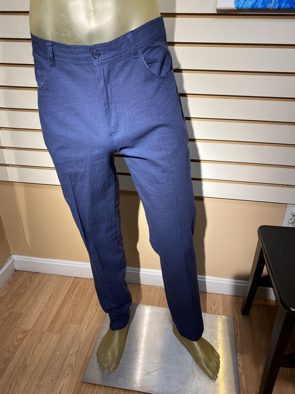 Major Deal! Men's 97% Cotton 3 % Spandex Pant Navy Select Sizes Machine Wash
