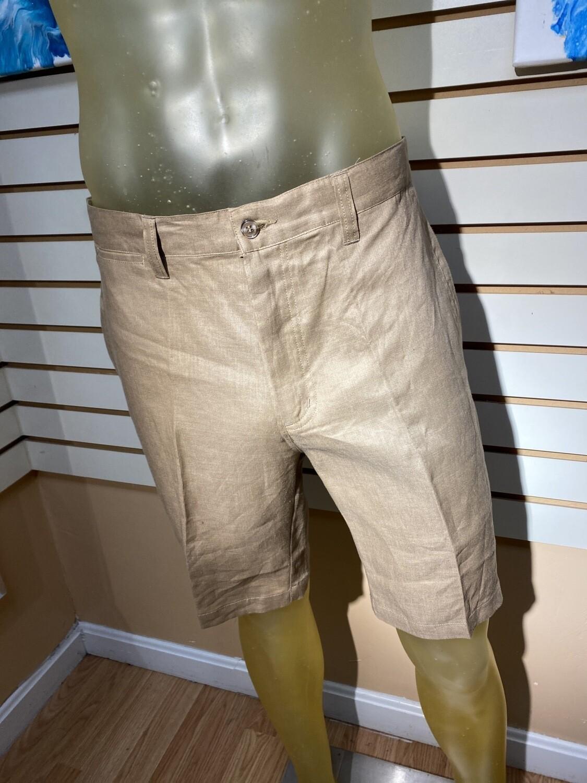 Major deal! Men's 100% Linen Short Tan Machine Was Limited Sizing