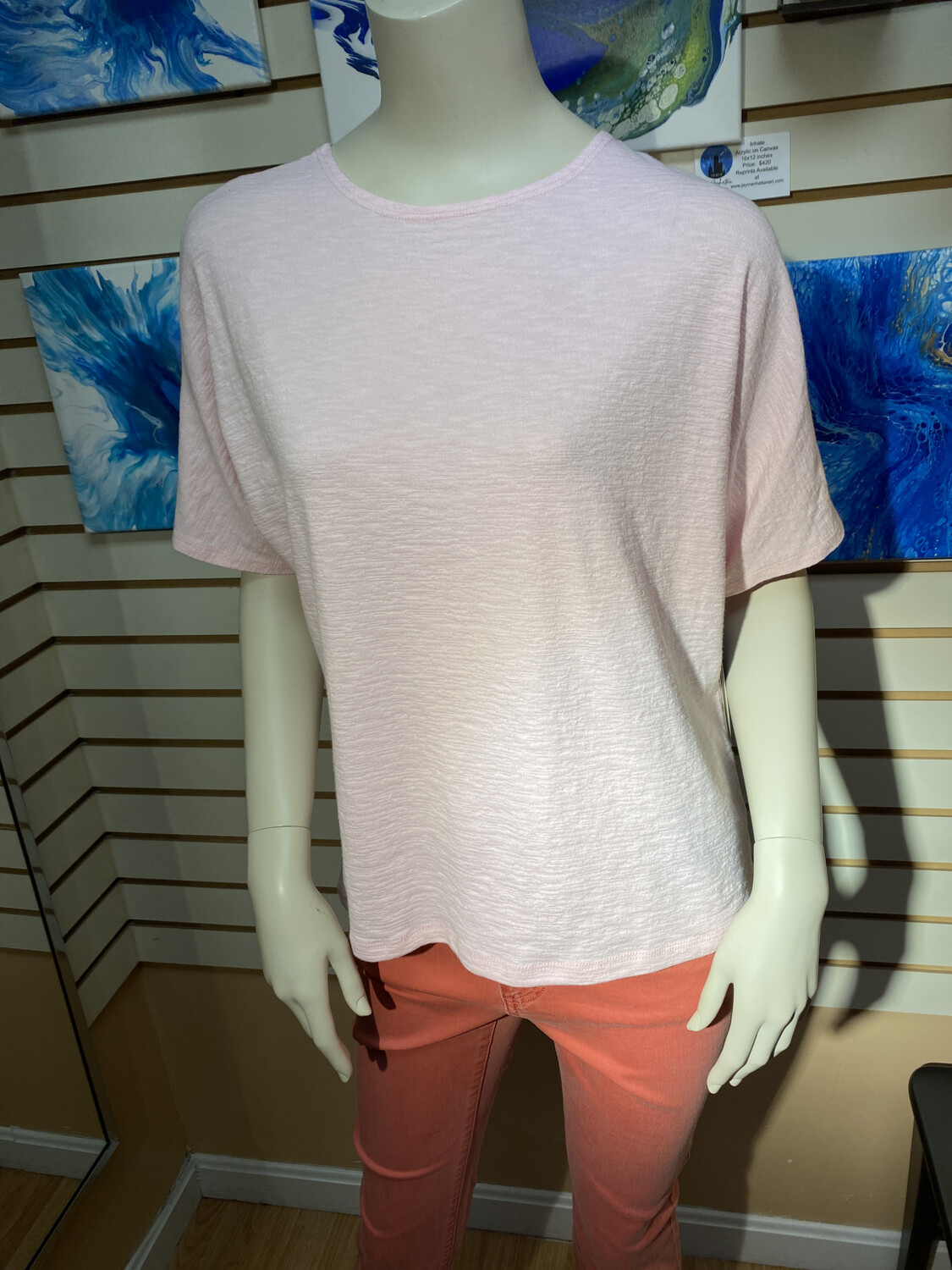 Cotton Stretch Top Rose Or White