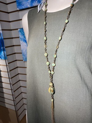 DK elements Ceramics And Bronze Necklace