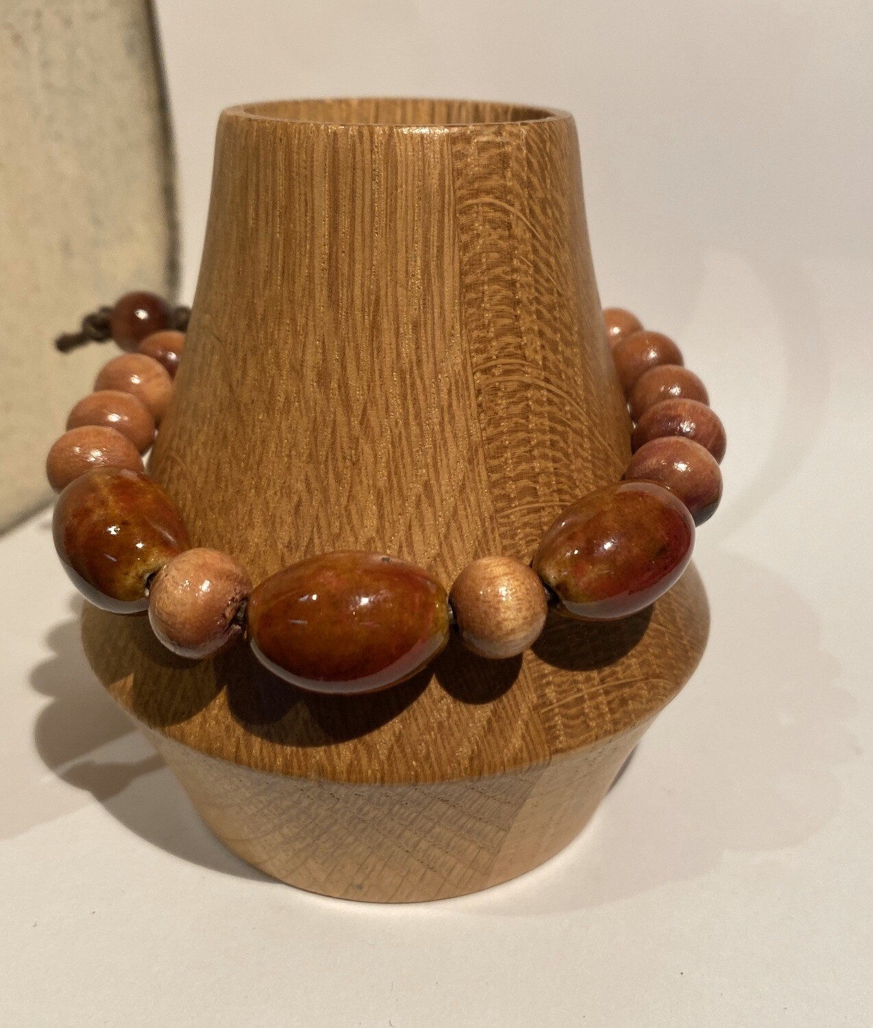 Men's DK Bracelet Wood Ceramic Leather