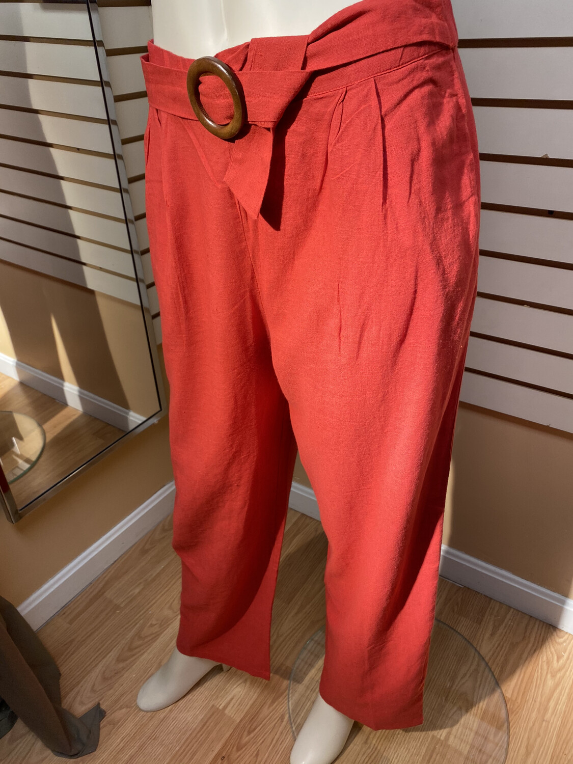 Pia Dune Trousers Red M
