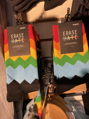 Erase Hate Sock Women Fits Sizes 5 To 10