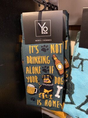 Not Drinking Alone If Dog Is Home Sock