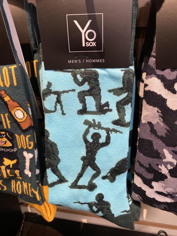Yo Sox Army Men Sock