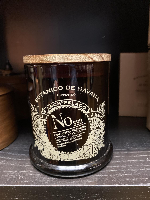 Archipelago Botanico De Havana Glass Candle Wood Top