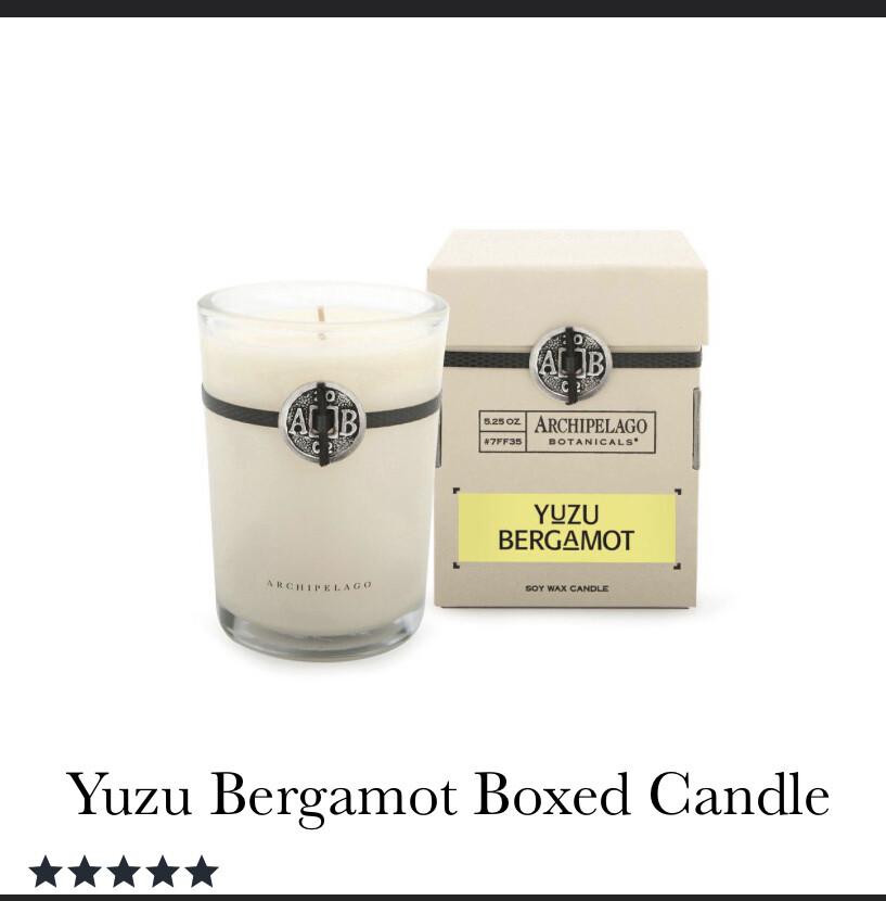 Archipelago Candle Yuzi Bergamot
