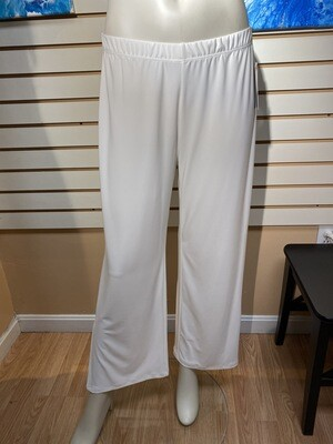 Major Deal Clara SunWoo Cream Pull On Wide Leg W Slit. Only 1. Size L /14 Rayon Spandex