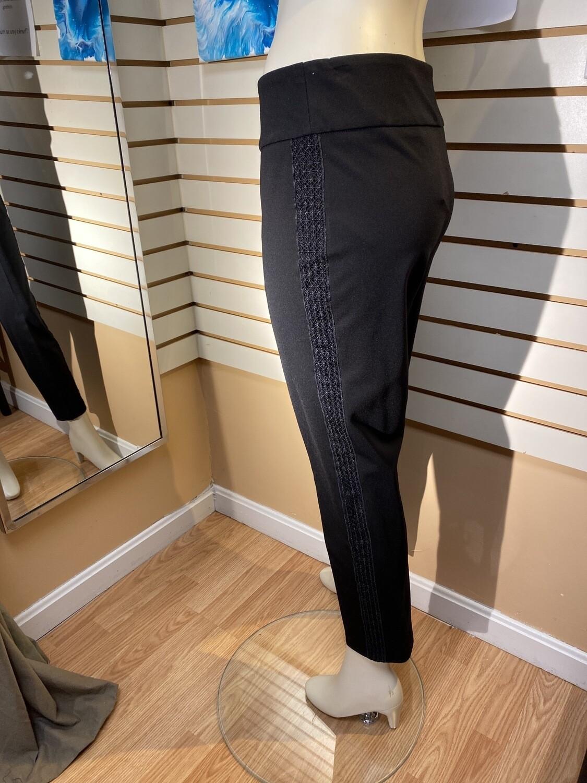 Major Deal Up Pant Black W Side Embroidered Tux Stripe. Blk Only 2