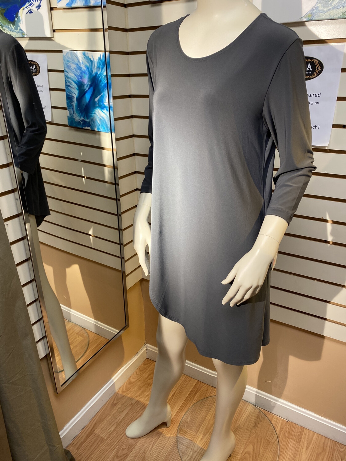 Major Deal Clara SunWoo Gathered Side Gray Tunic. Only 1 Size L /14 Matching Pant Available.