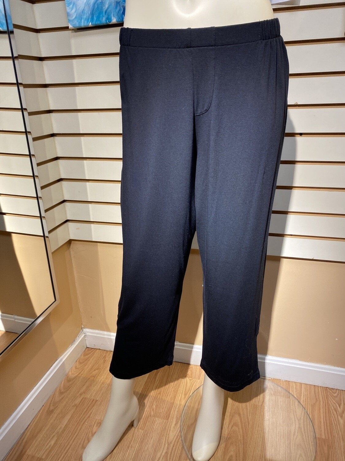 Major Deal Inside Out Made In USA. Modal Split Ankle Comfiest Of Pant. Blk Small Fits Like 6/8
