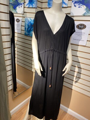 Major Deal Pia Black Cover Up. Softest Of Viscose. Only 1 Size Large.
