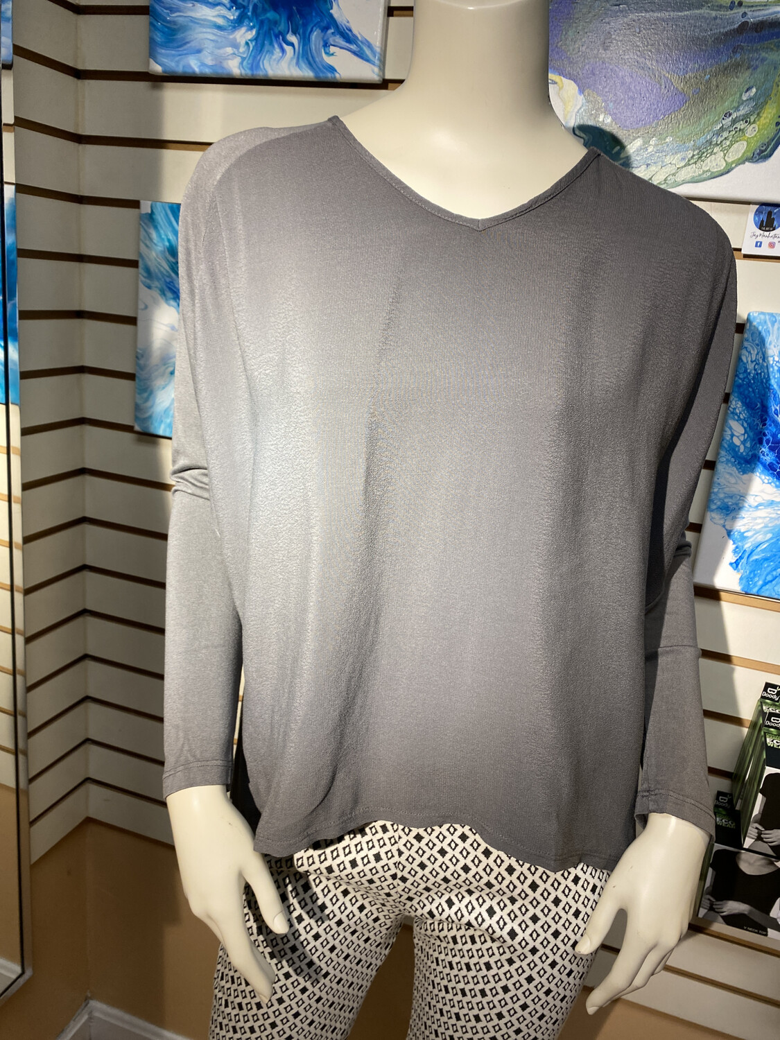 Made In Italy Knit Back Top Xs