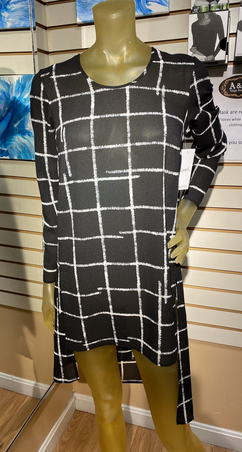 Sympli Etch Whisper Step Over Tunic Great Over Many Sympli Pieces Size 4