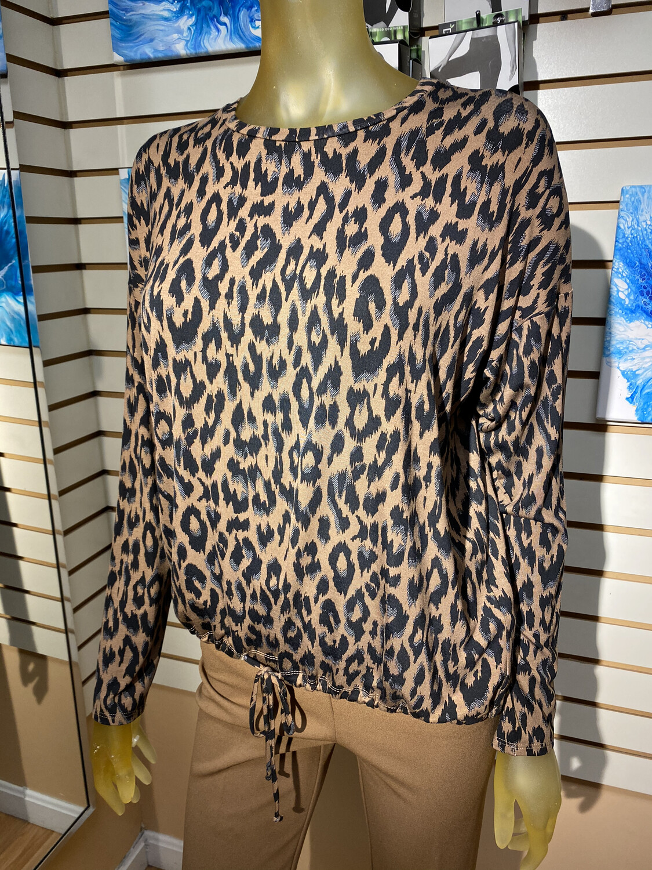 Up Top Cheetah Print Size S