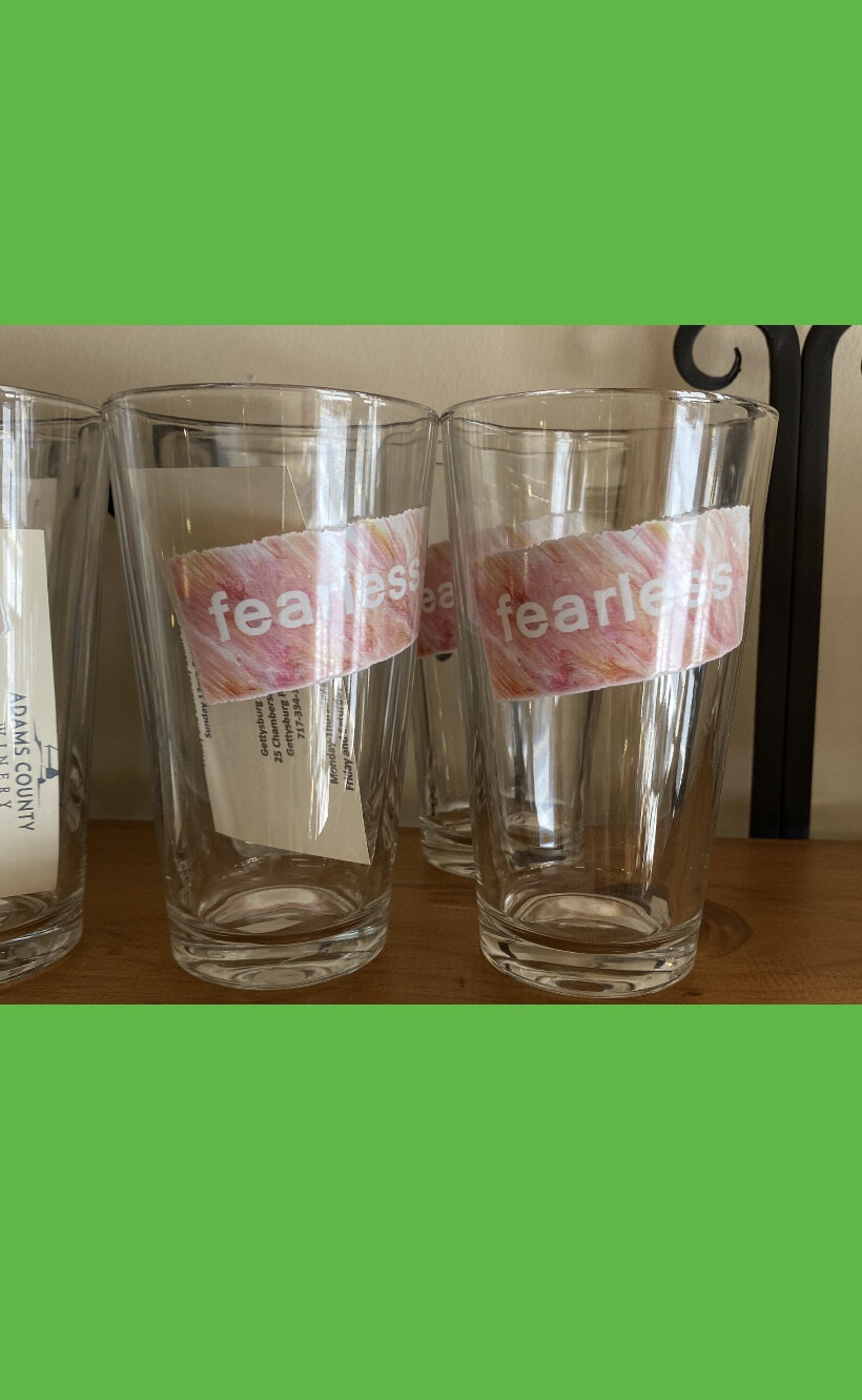 Fearless Drinking Glasses Tap For Style 20% Donates To Pink Out.