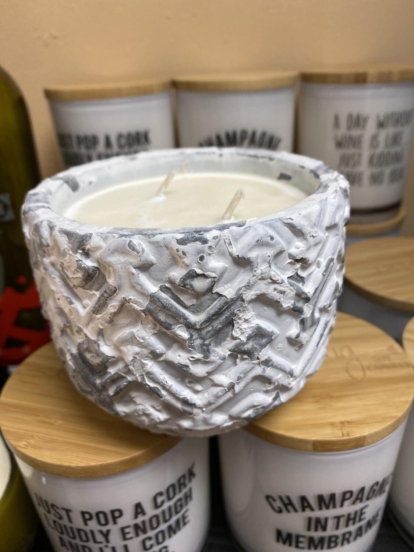 Unplug Candle White Stone Sugared Citrus