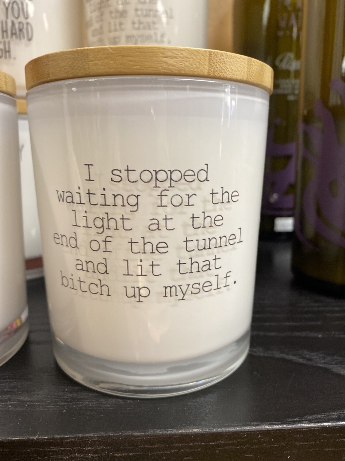 "Unplug Saucy Glass Candle ""I stopped Waiting For The Light"" Prosecco Fizz Aroma 100% Soy Made In USA 11.5 oz"