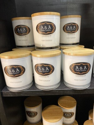 A&A Signature Candle Exotic Cardamon 100% Soy Made In USA For Us. 11.5 oz