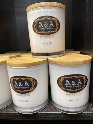 A&A Signature Candle White Tea Scent 100% Soy Made In USA 11.5 oz