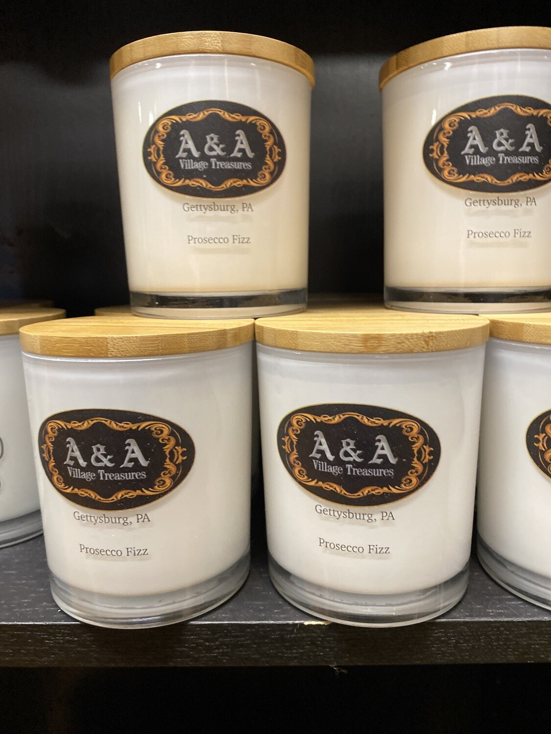 A&A Signature Candle Prosecco Fizz Aroma 100% Soy Made In USA 11.5 oz