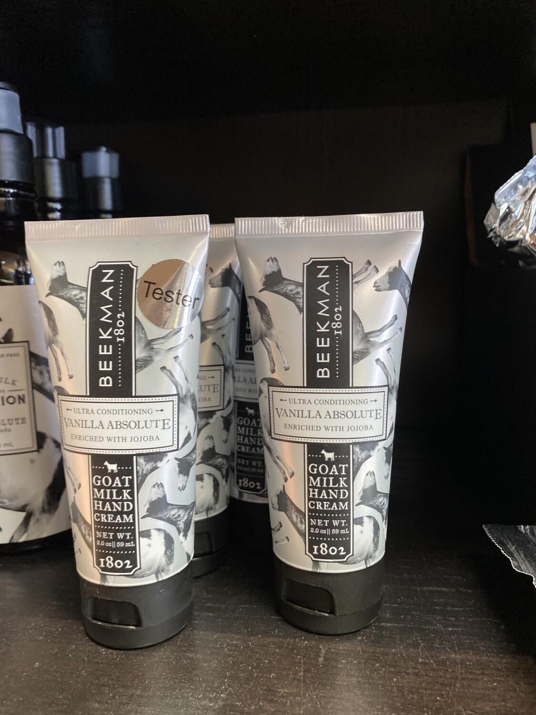 Beekman 1802 Travel Hand Cream 2 oz Vanilla Absolute