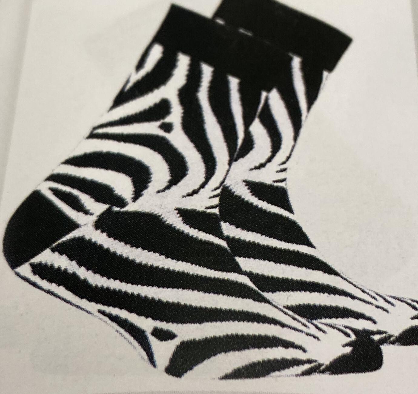 Men's Zebra Socks