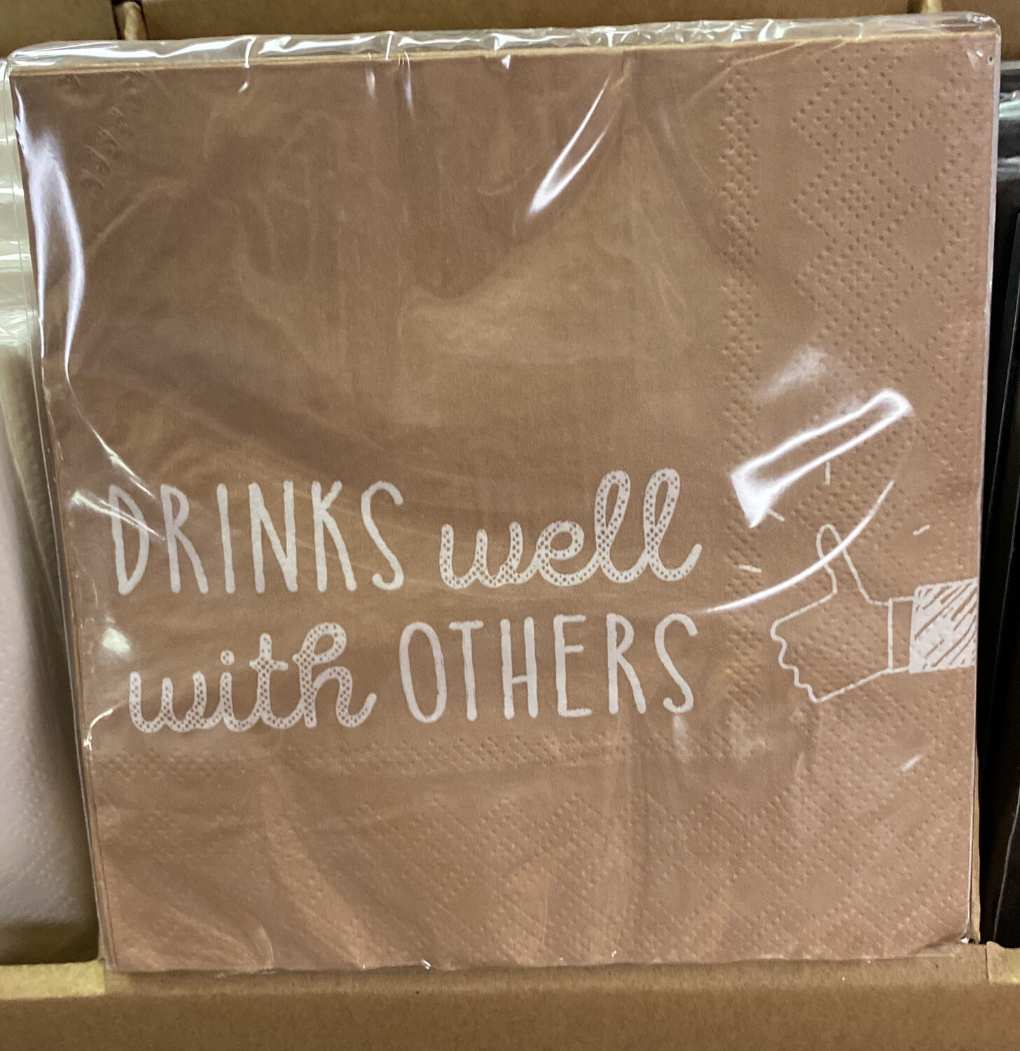 Drinks Well With Others Napkin