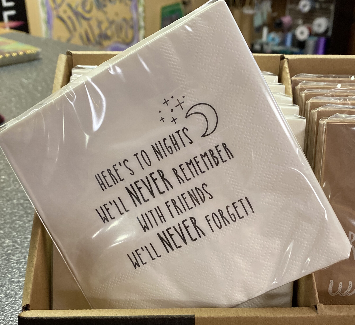 Heres To Nights We'll Never Remember Napkin