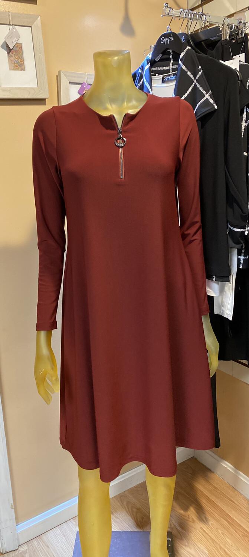 Sympli Zest Dress Brick 8