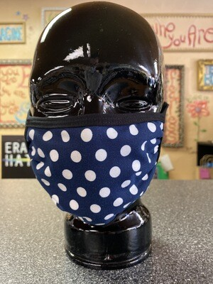 Inside Out 3 Layer Mask Blue W Wht Poca Dots