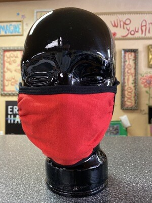Inside Out 3 Layer Mask Red Black Trim