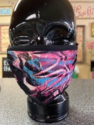 Inside Out 3 Layer Mask Fuchsia, Black