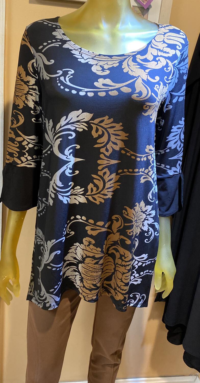 Clara SunWoo Damask Print Tunic M /12