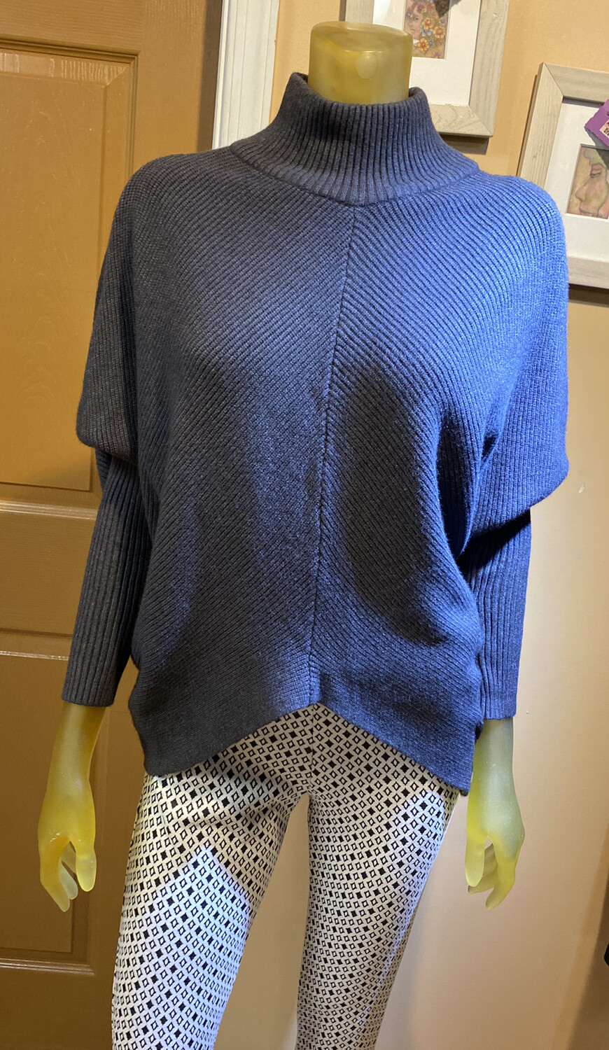 M Made In Italy Knit Sweater Grey XL