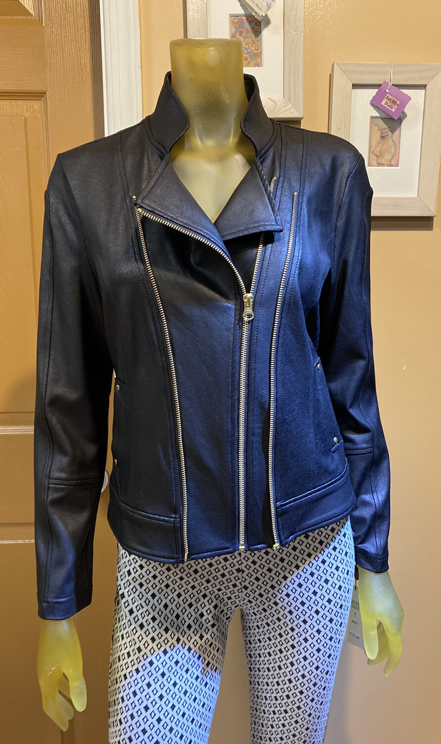 Clara Liquid Leather Jacket Xs