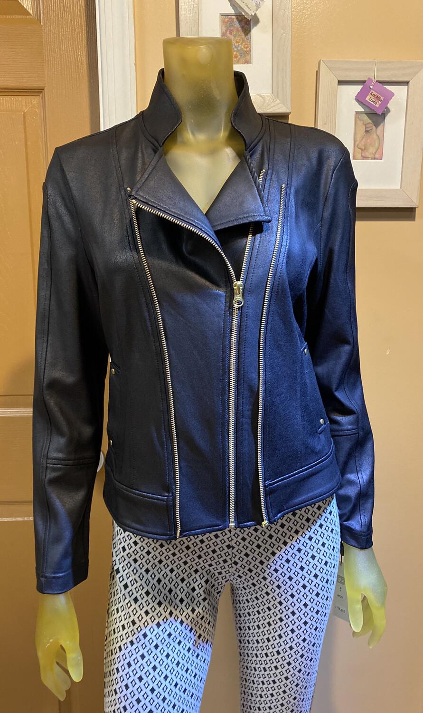 Clara Liquid Leather Jacket L