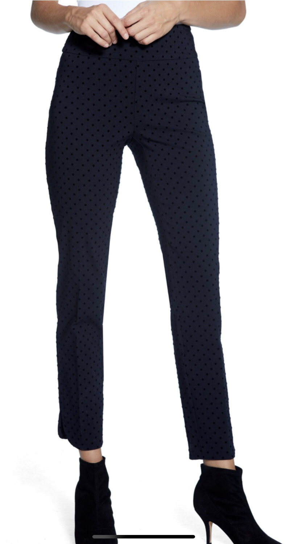 Up Navy Velvet Black Dots Pant Size 4
