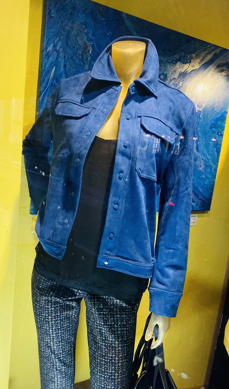 Coco Club Ultra Suede Blue Jacket S