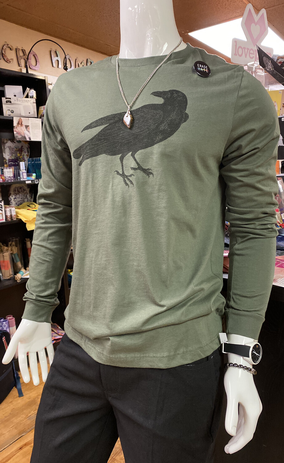 Salty Raven Long Sleeve Tee XL