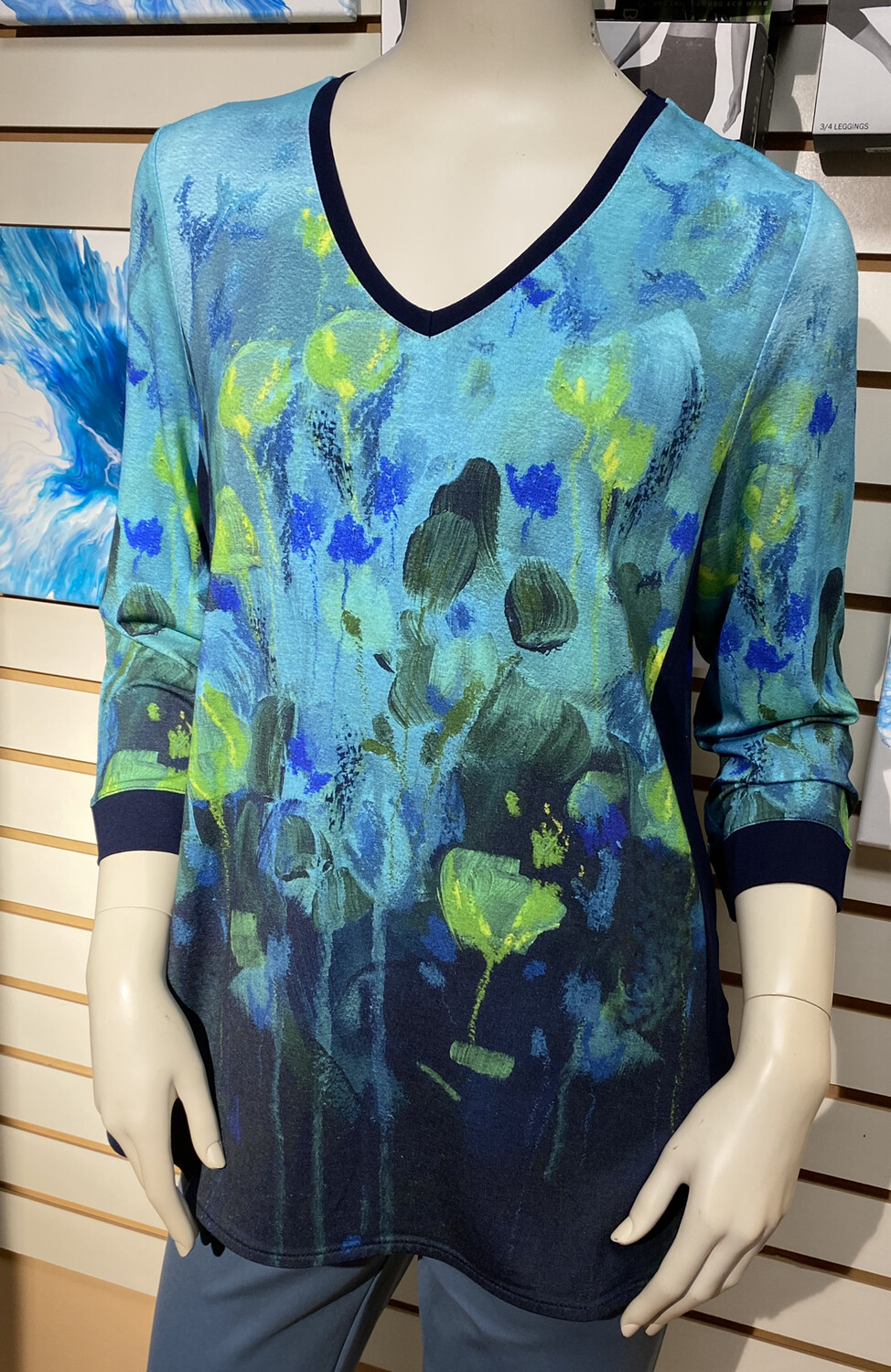 Dolcezza Fantaisie Florale Knit Pullover XL