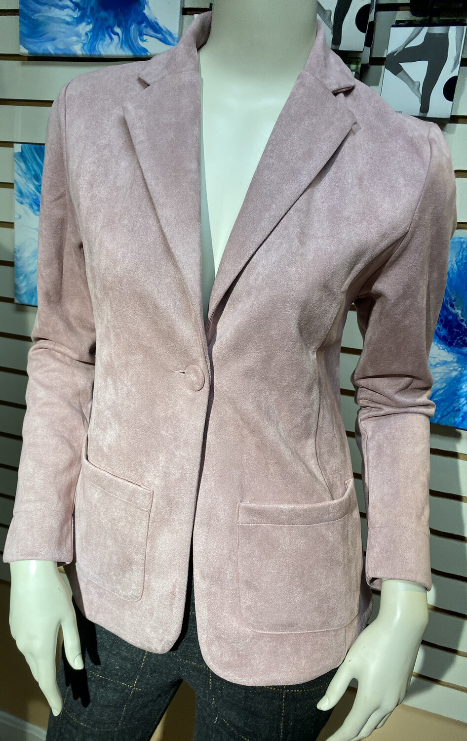 Coco Club Blush Ultra Suede Blazer L