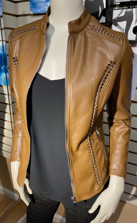 Coco Club Tobacco Woven Detail Jacket XL