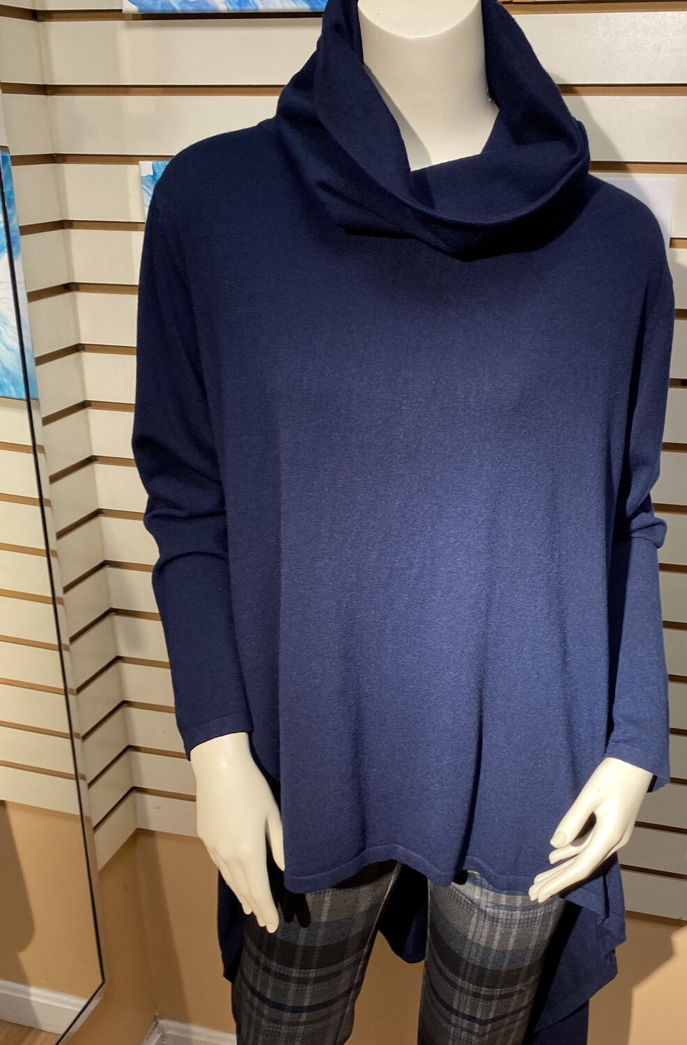 Major Deal Made In Italy Knit Tunic Navy So Soft. Only 1 Small