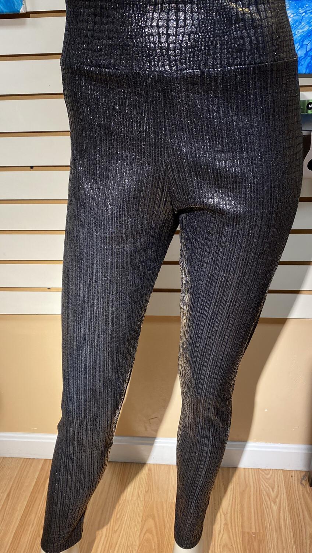 Apricot Croc Foiled Legging Black Bronze Size XS