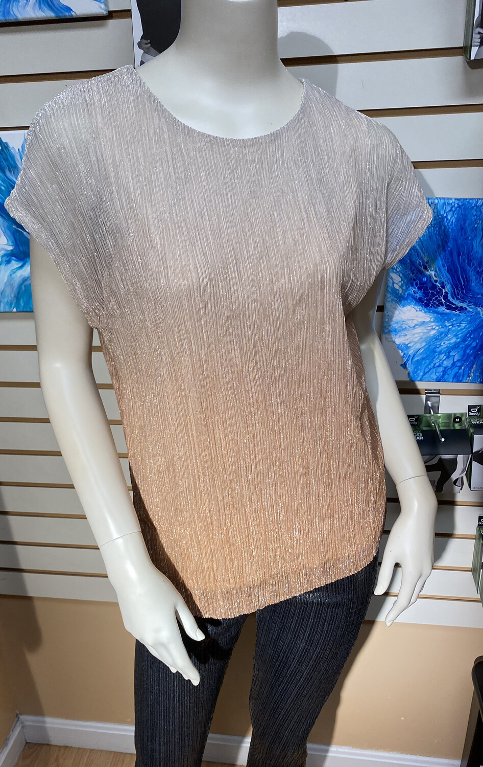 Apricot Ombre Top Rust M