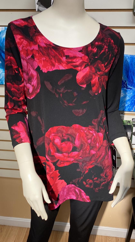 Clara Peony Print Tunic XS